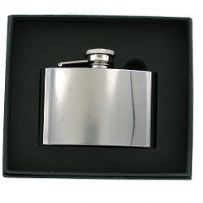 Polished Stainless Steel Hip Flask 4oz RRP £18.99 Ltd offer 25% off